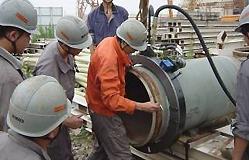 Máquina de corte TT-NG en obra