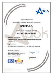 certificación calidad 9001:2015