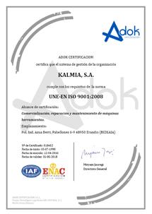 Certificado calidad 2016