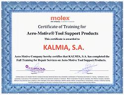 certificado Molex Aero-Motive
