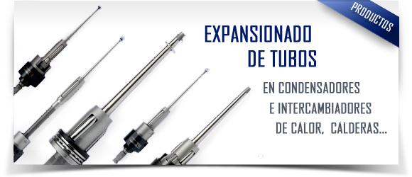 Expansionado de tubos para intercambiadores de calor